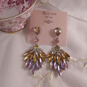 Spring Vintage Style  Dangle Earrings Blush